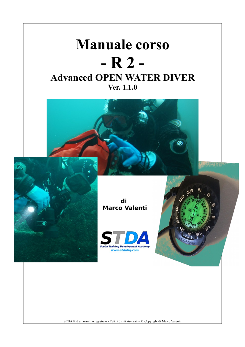 Manuale R2 Advanced open water vers 1 1 0 Copertina
